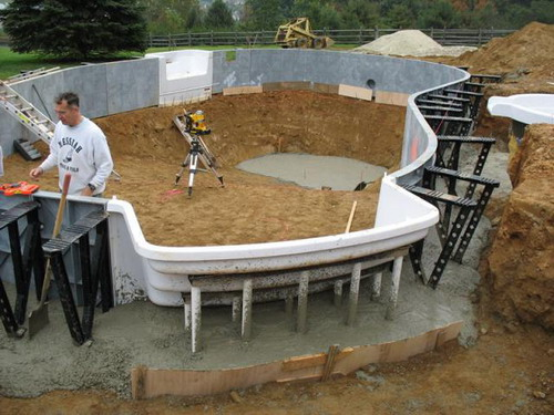 Do it yourself inground swimming pool plans pool supplies for Diy pool house plans
